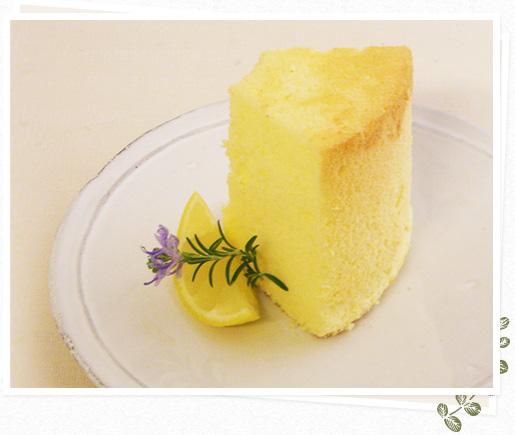 素材にこだわったシフォンケーキ